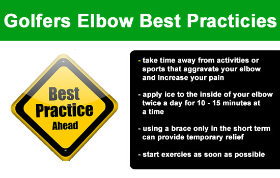 best practices for golfers elbow