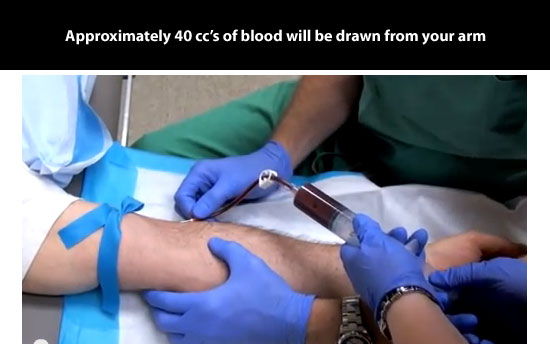 40 cc of blood drawn
