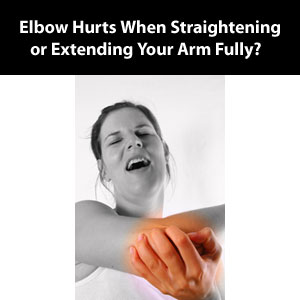 elbow hurts when extended