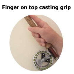 finger on top