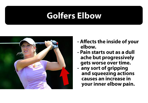 golfers elbow pain