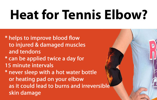 heat for tennis elbow