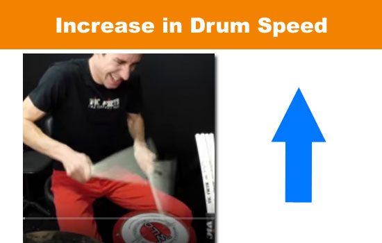 increase drum speed