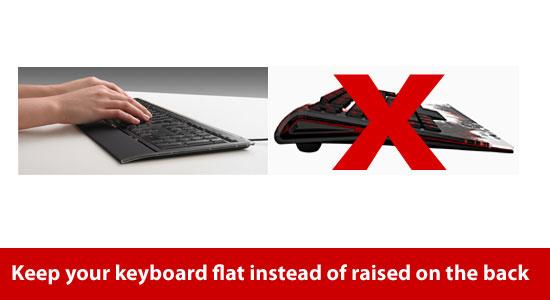 flat keyboard for elbow