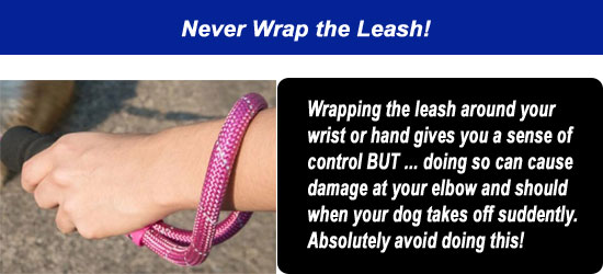 never wrap the leash