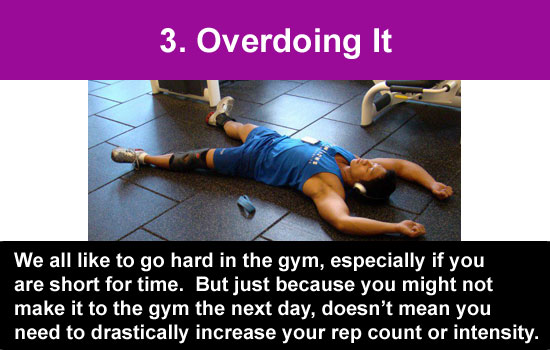 overdoing your workout