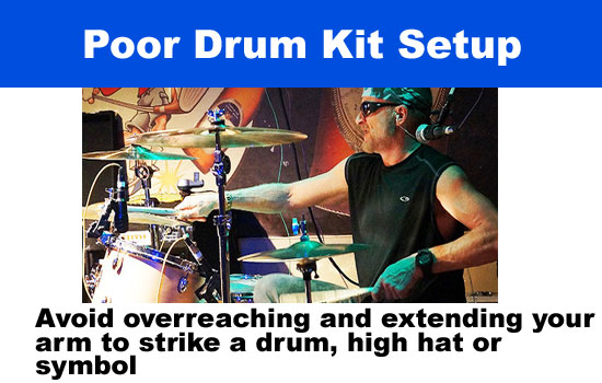poor drum kit setup