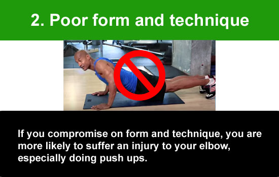 poor push up form