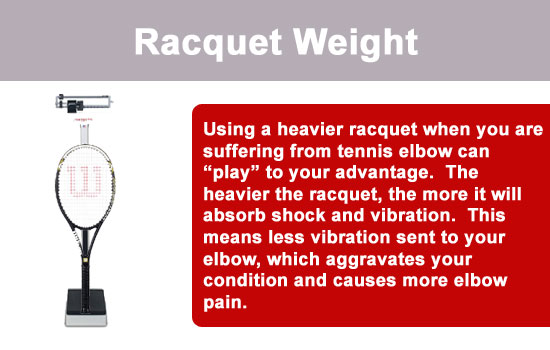 tennis racquet weight