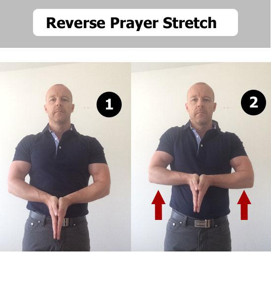 reverse prayer stretch