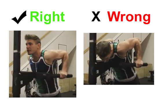 right and wrong way to do dips