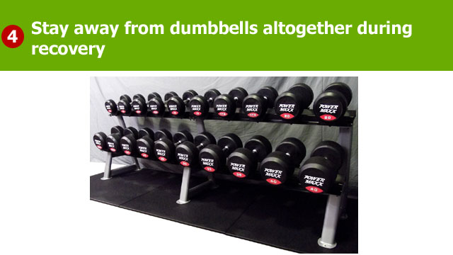 dumbbells bad for your elbow