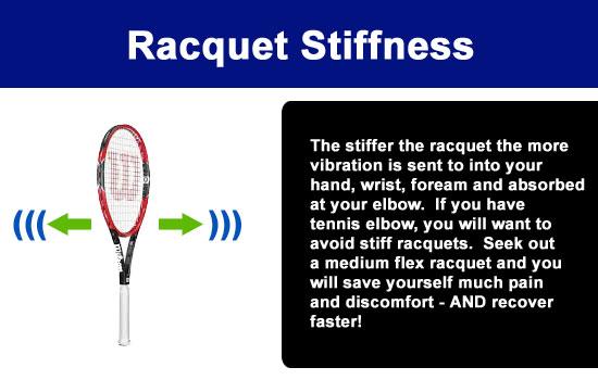 stiff tennis racquet
