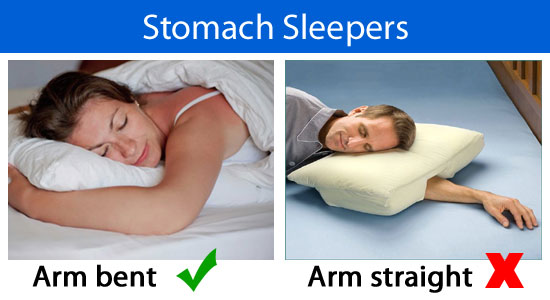 stomach sleeping position