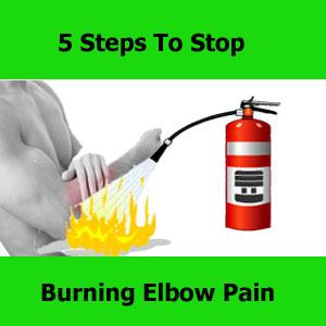 burning elbow pain