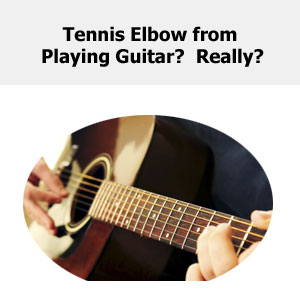 tennis elbow from playing guitar