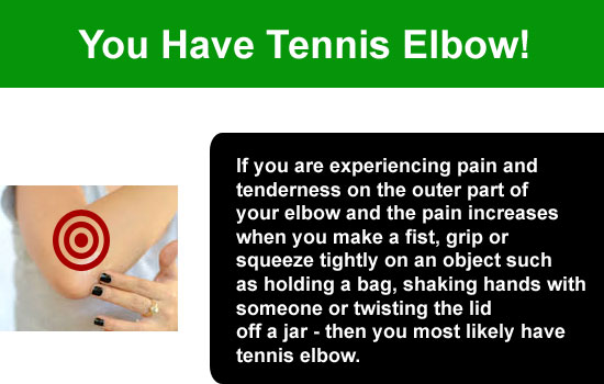 tennis elbow problem