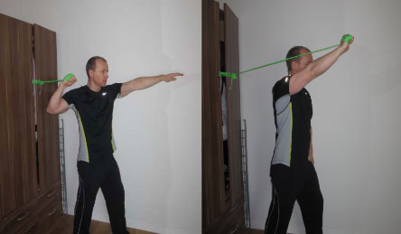 throw flex band exercise
