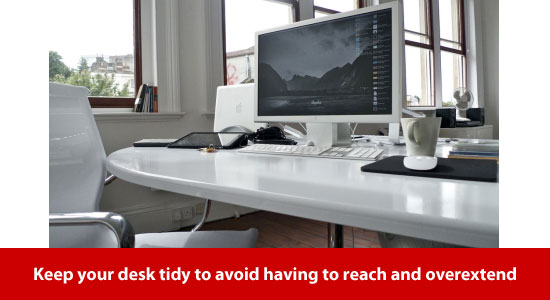happy elbow tidy desk