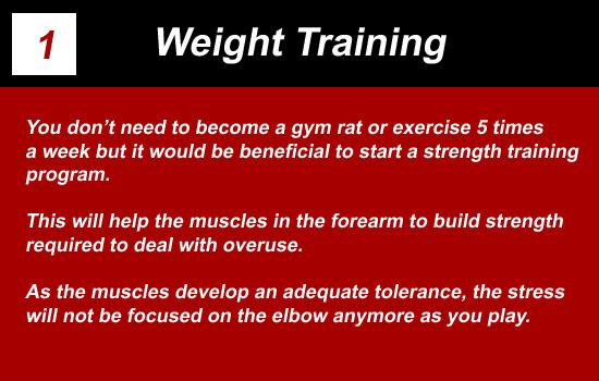 weight training elbow