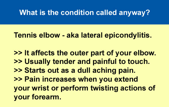 why is it called tennis elbow