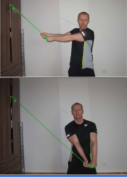 woodchop flexband exercise